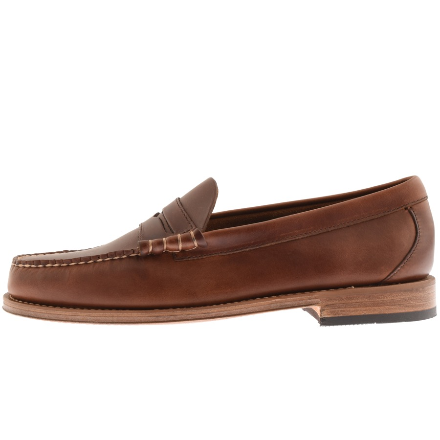 GH Bass Weejun Heritage Larson Loafers Brown