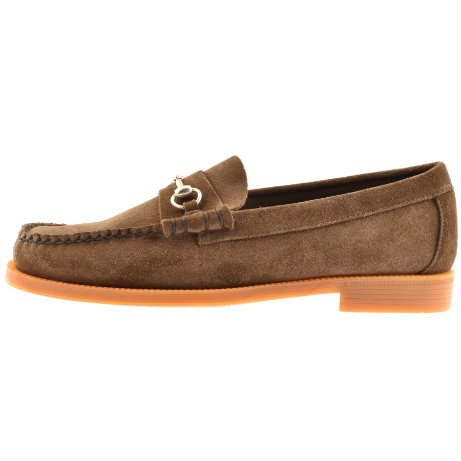 GH Bass Weejun Lincoln Suede Loafers Brown