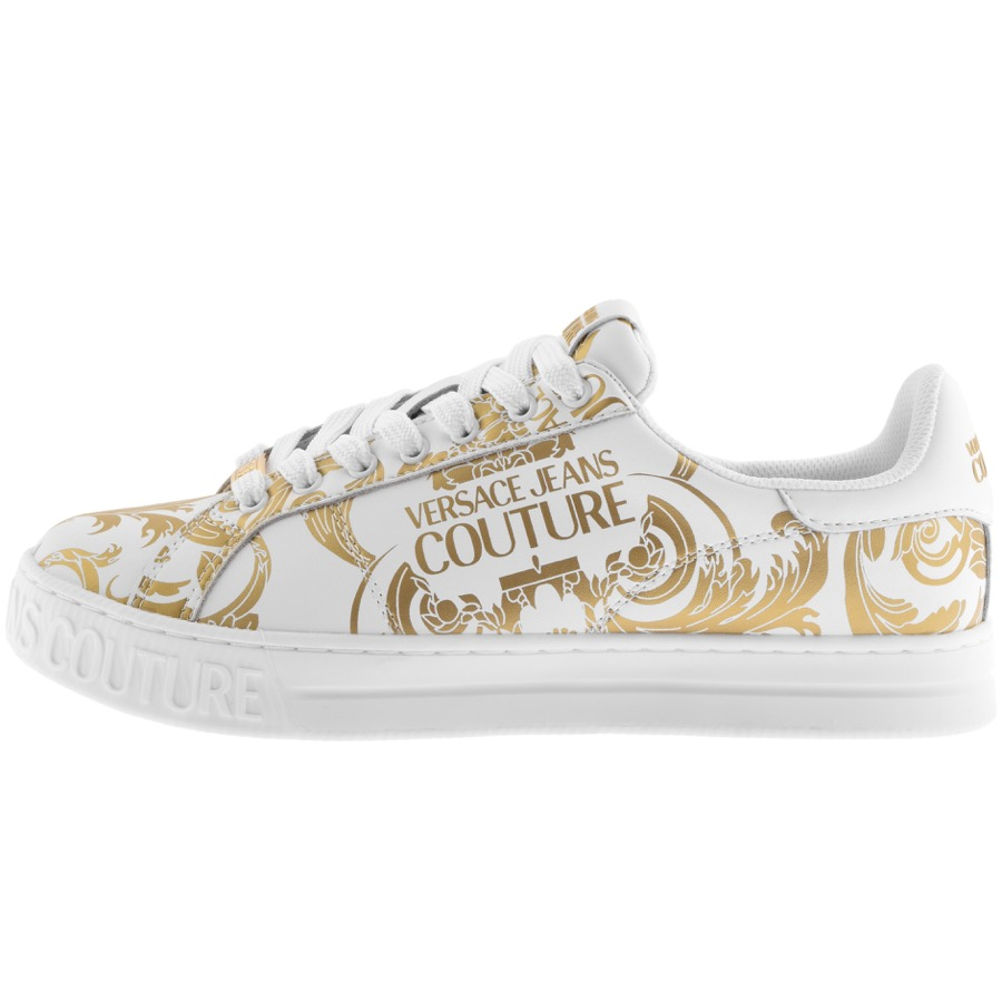 Versace Jeans Low tops VERSACE JEANS COUTURE LOGO TRAINERS WHITE