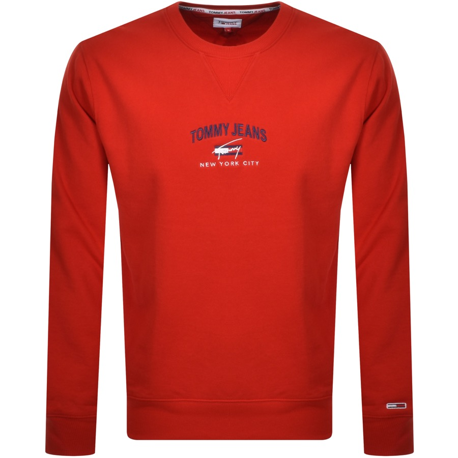 Tommy Jeans Timeless Sweatshirt Red