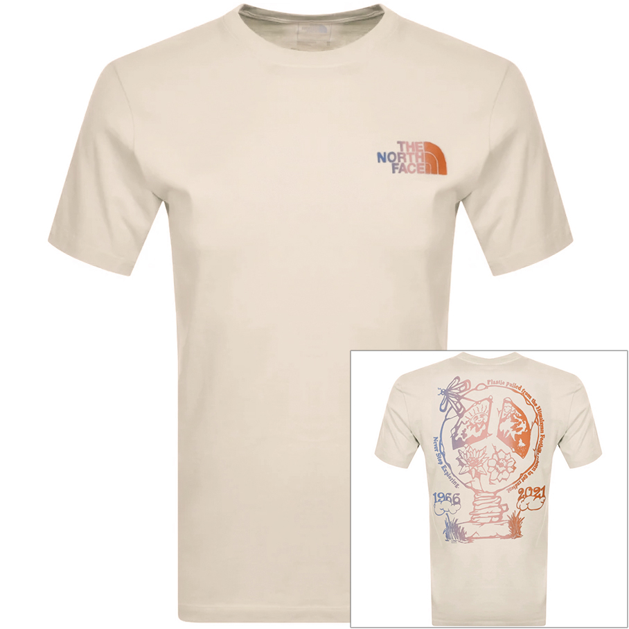 The North Face Cottons THE NORTH FACE BOTTLE SOURCE T SHIRT WHITE