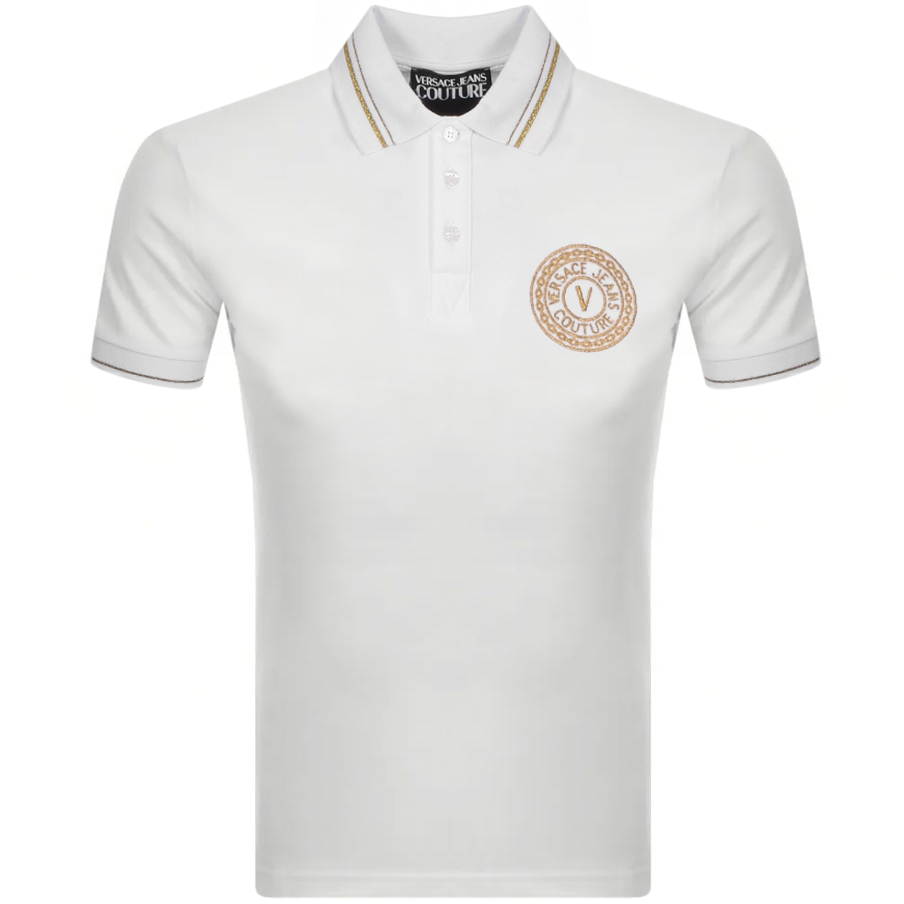 Versace Jeans Couture Polo T Shirt White