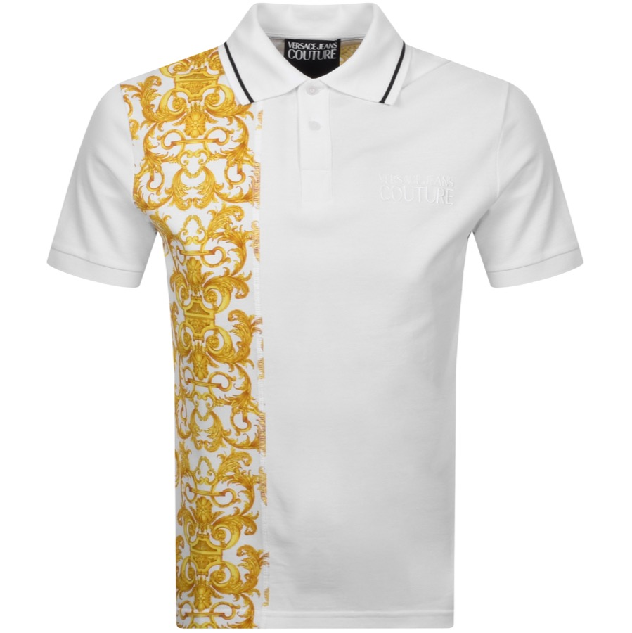 Versace Jeans T-shirts VERSACE JEANS COUTURE LOGO POLO T SHIRT WHITE