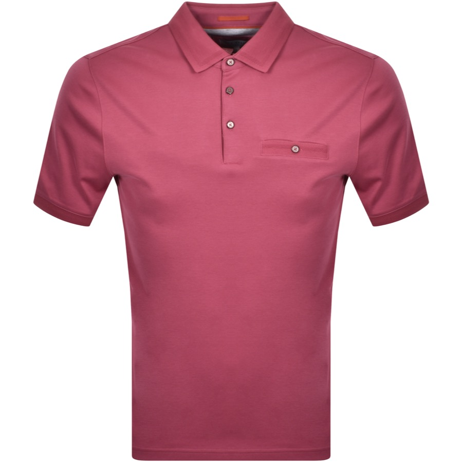 Ted Baker Choon Polo T Shirt Pink