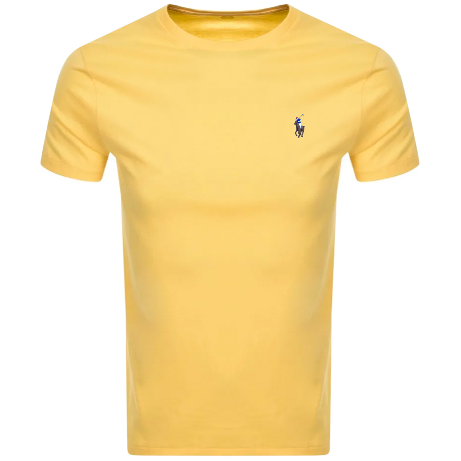 Ralph Lauren Pima Crew Neck T Shirt Yellow