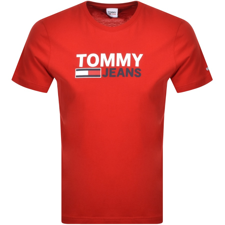 Tommy Jeans Corp Logo T Shirt Red