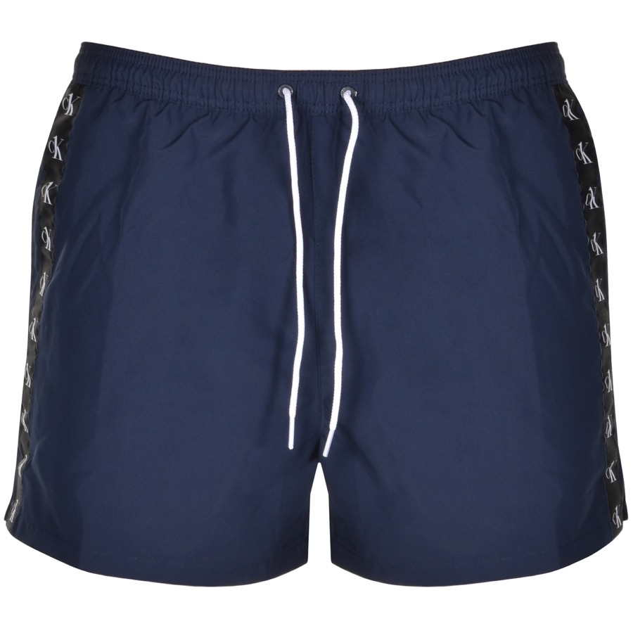 Calvin Klein Logo Swim Shorts Navy In Black