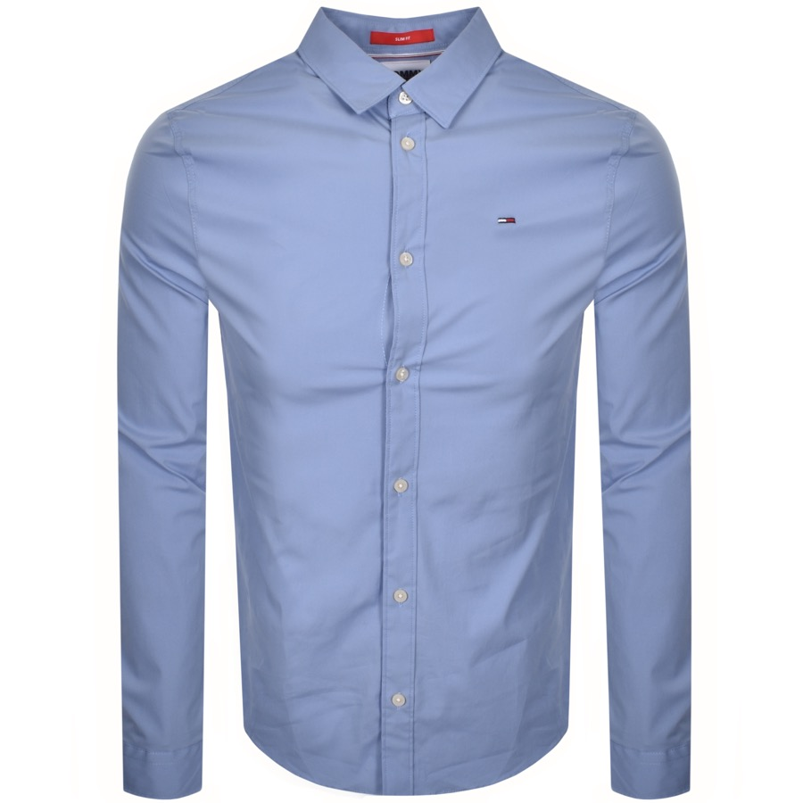 Tommy Jeans Long Sleeved Shirt Blue