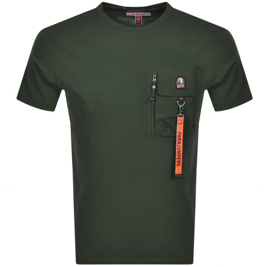 Parajumpers PARAJUMPERS MOJAVE POCKET T SHIRT GREEN