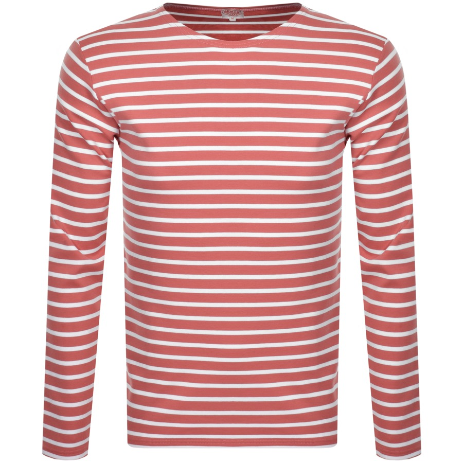 Armor Lux Heritage Long Sleeved T Shirt Pink