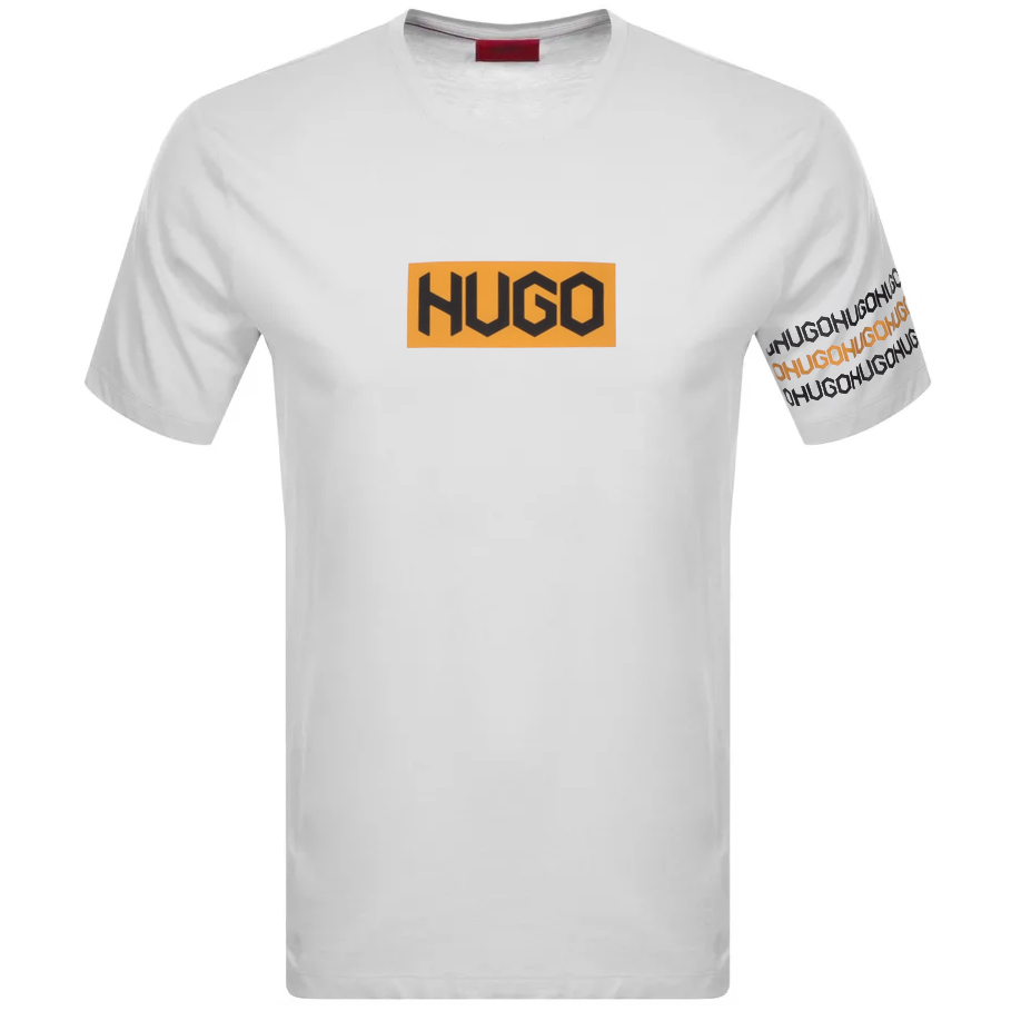 Hugo HUGO DAKE CREW NECK T SHIRT WHITE