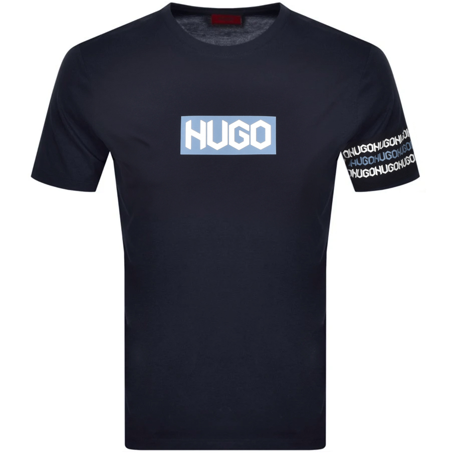 Hugo HUGO DAKE CREW NECK T SHIRT NAVY