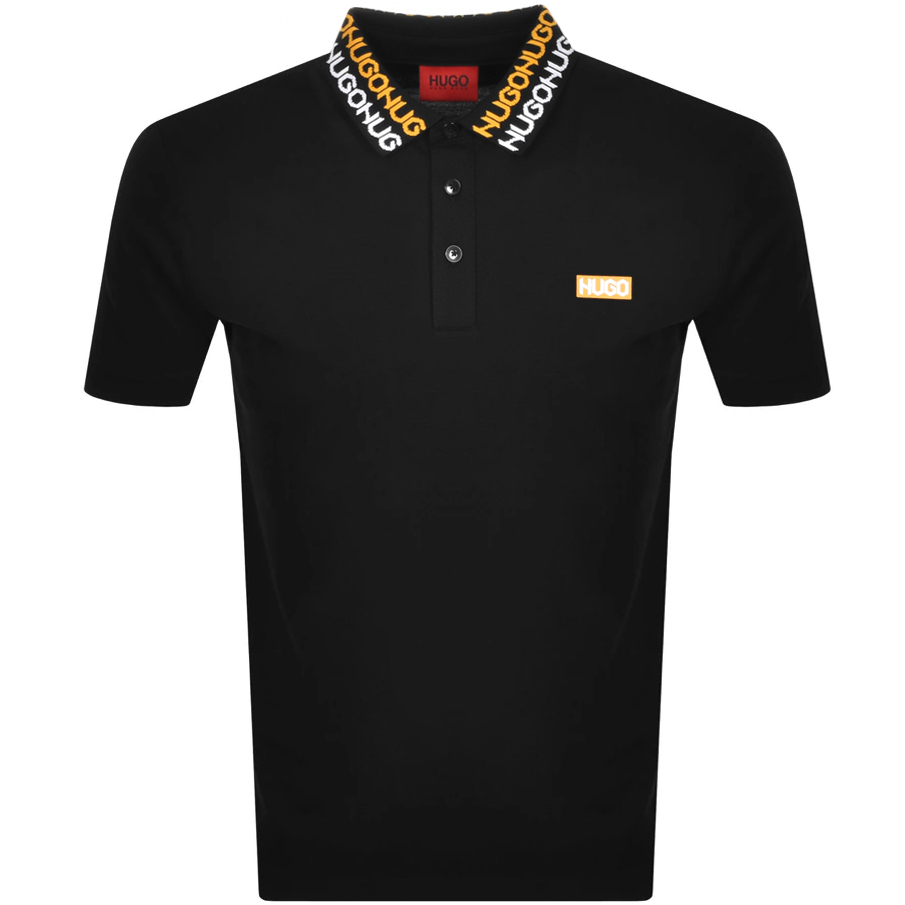 Hugo HUGO DAMAGO POLO T SHIRT BLACK