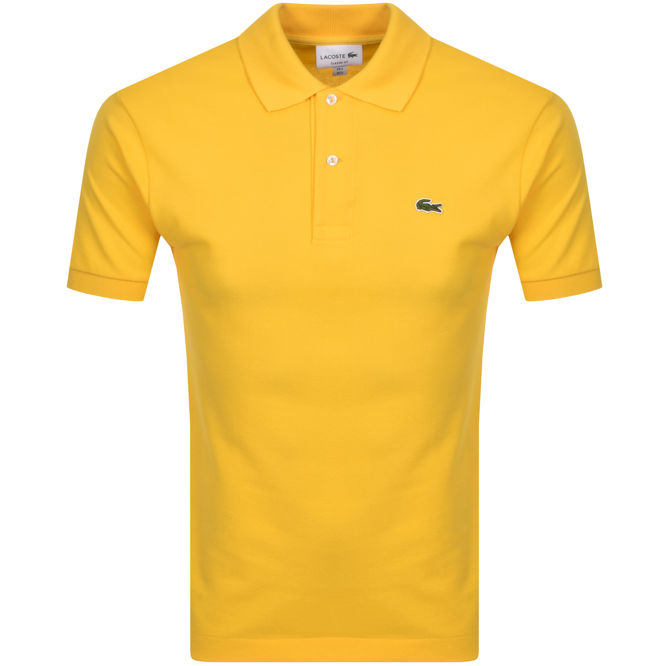 Lacoste Short Sleeved Polo T Shirt Yellow