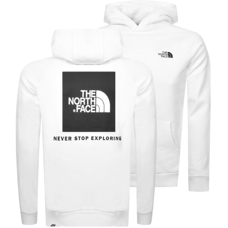 The North Face Cottons THE NORTH FACE REDBOX HOODIE WHITE