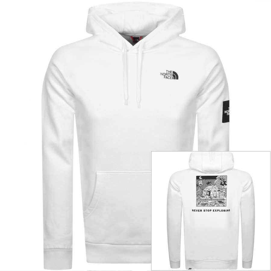 The North Face Cottons THE NORTH FACE BLACK BOX HOODIE WHITE
