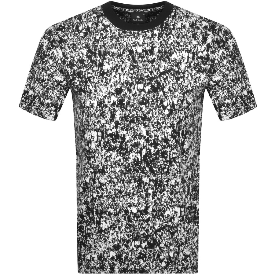 PS By Paul Smith Crowd Print T Shirt White