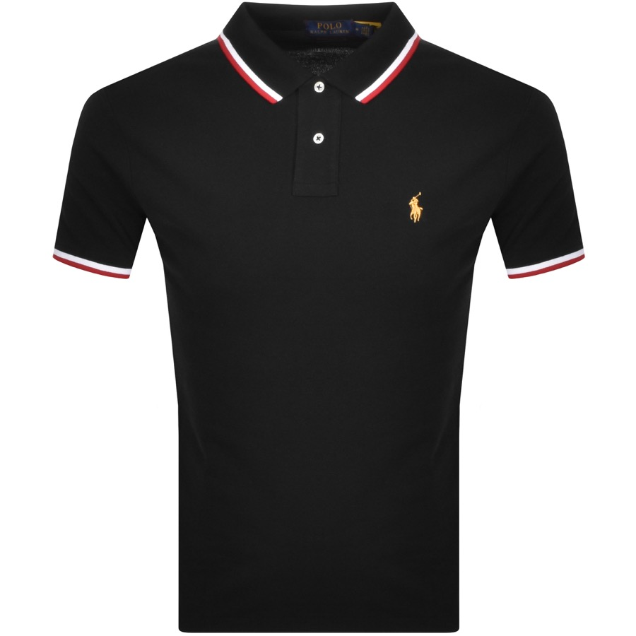 Ralph Lauren Basic Mesh Polo Black