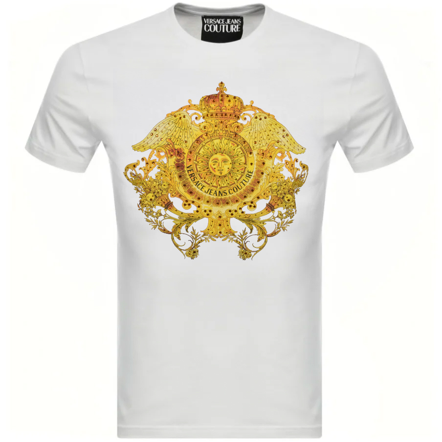 Versace Jeans Couture Crystal T Shirt White