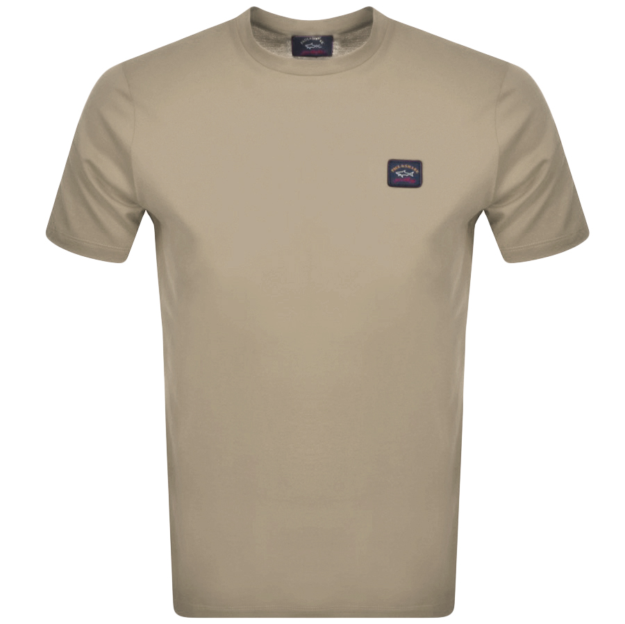 Paul And Shark Short Sleeved Logo T Shirt Beige