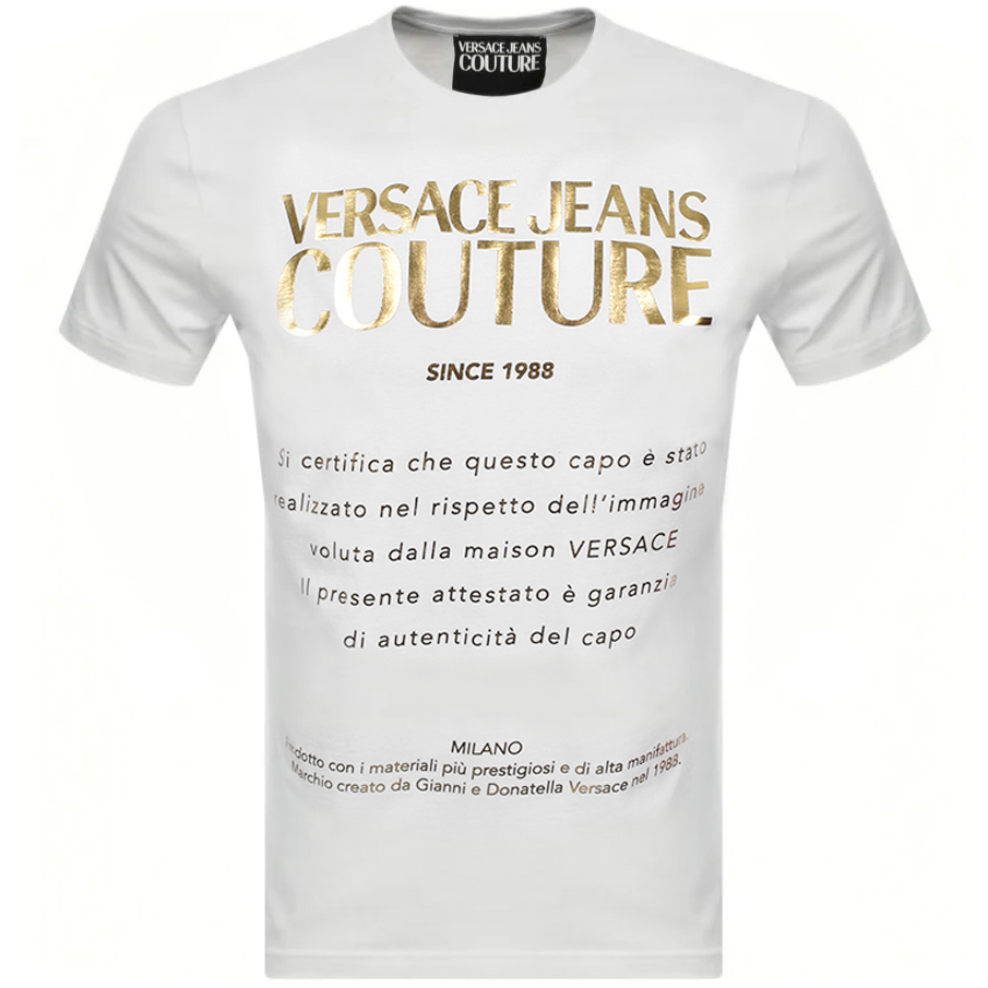 Versace Jeans Couture Foil T Shirt White