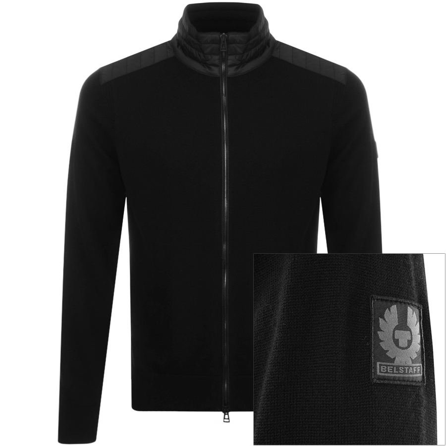 Belstaff Kelby Zip Jumper Black