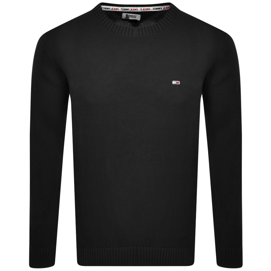 Tommy Jeans Essential Crew Knit Jumper Black