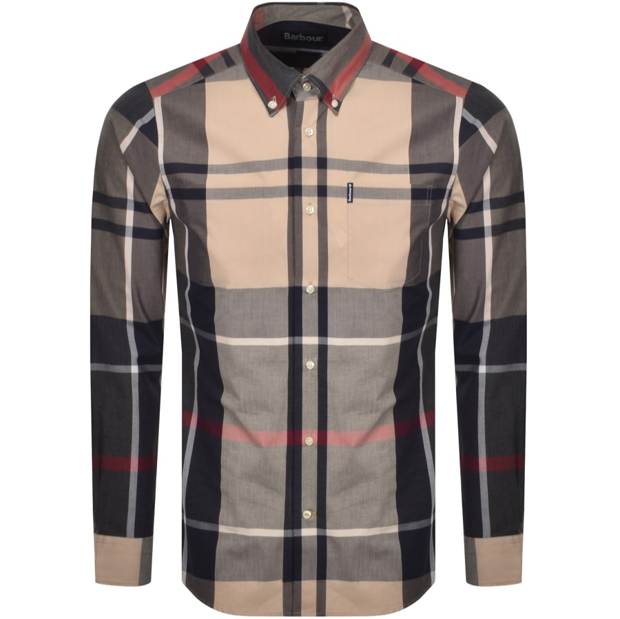 Barbour Long Sleeved Tartan 5 Shirt Stone