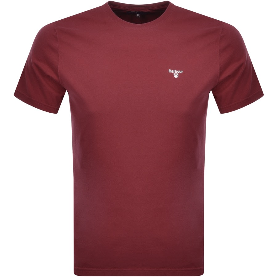 Barbour Sports T Shirt Red