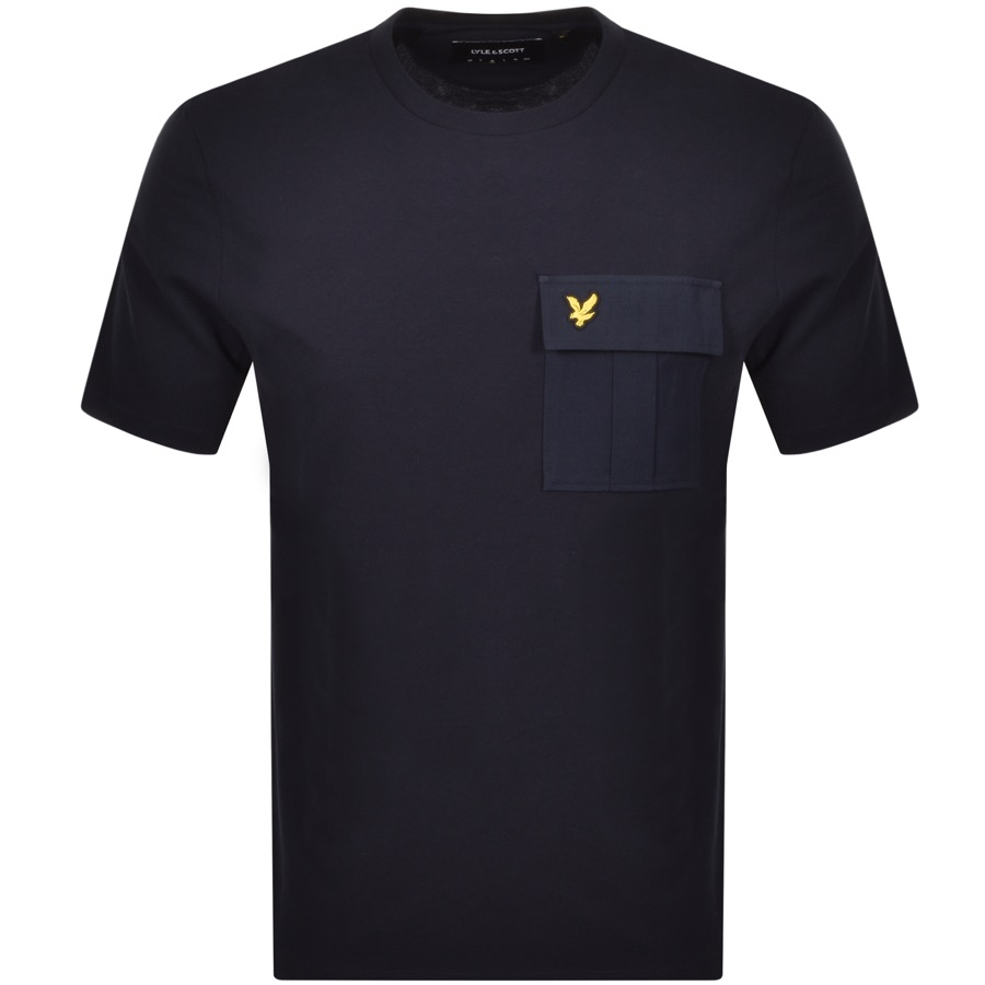 Lyle And Scott Crew Neck Pocket T Shirt Navy