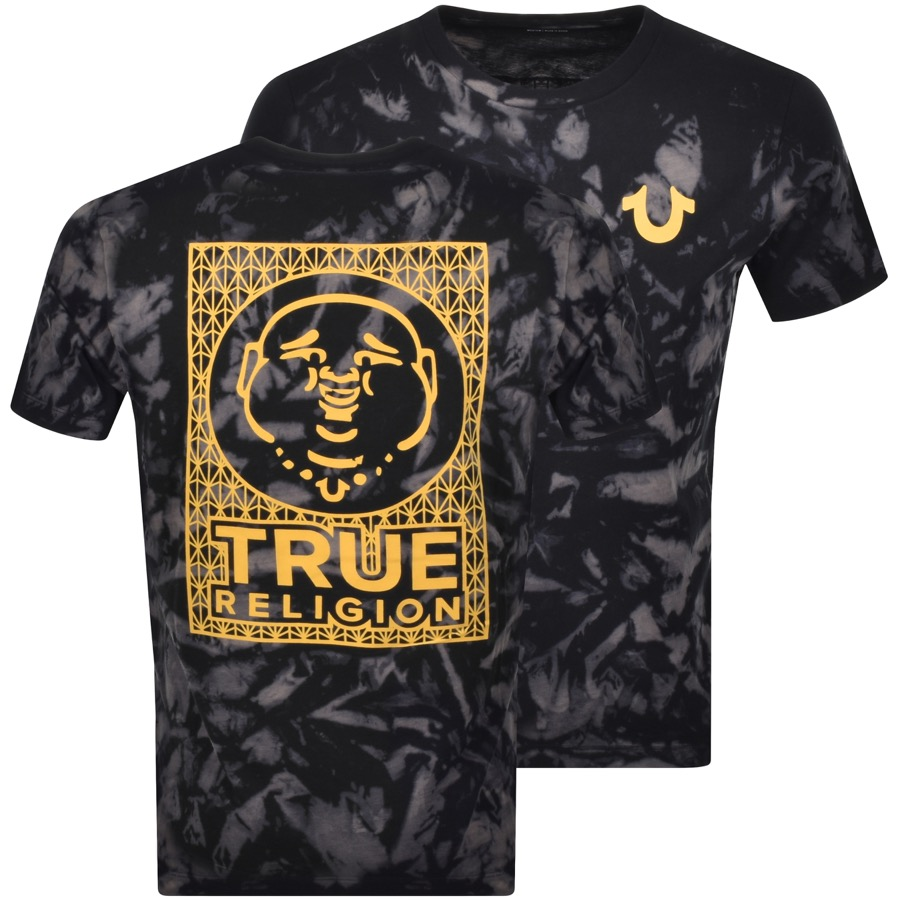 True Religion TRUE RELIGION TIE DYE TOUR LOGO T SHIRT BLACK