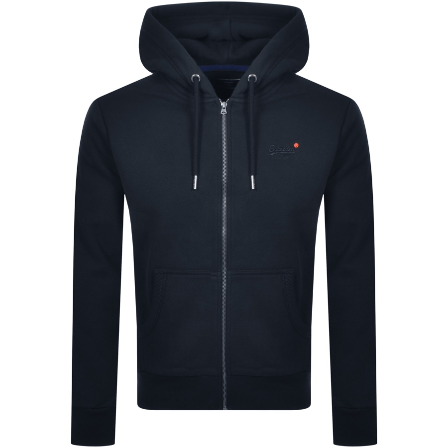 Superdry Orange Label Full Zip Hoodie Navy