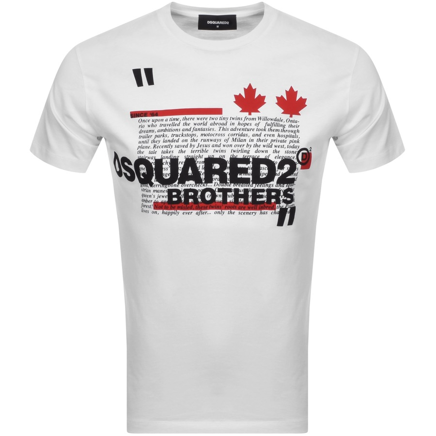Dsquared2 DSQUARED2 BROTHERS COOL SHORT SLEEVED T SHIRT WHIT