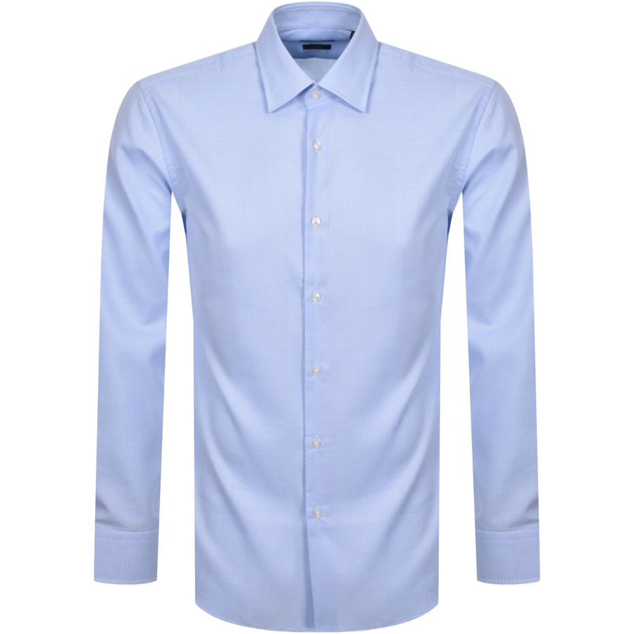 BOSS Jango Slim Fit Long Sleeve Shirt Blue