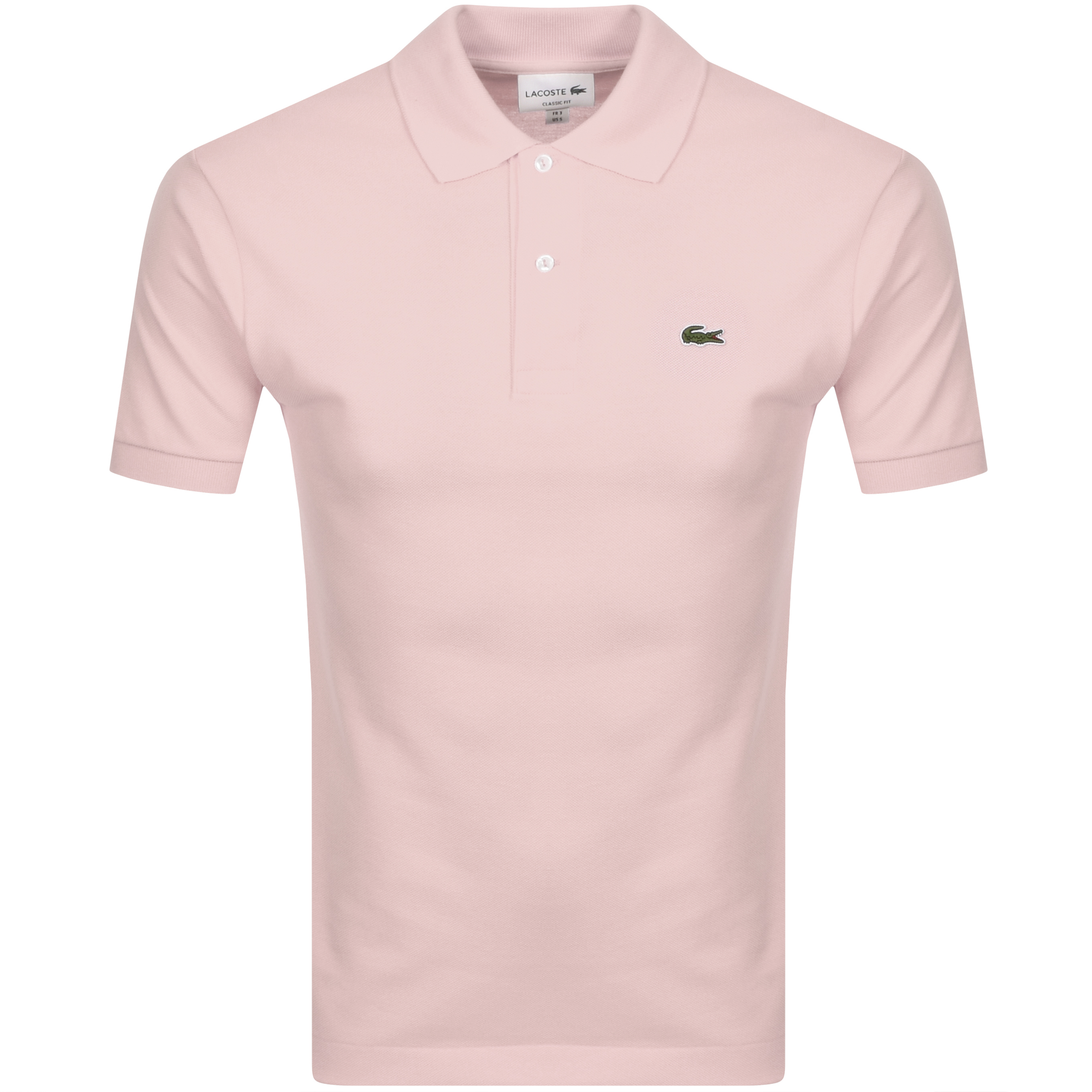Lacoste Short Sleeved Polo T Shirt Pink