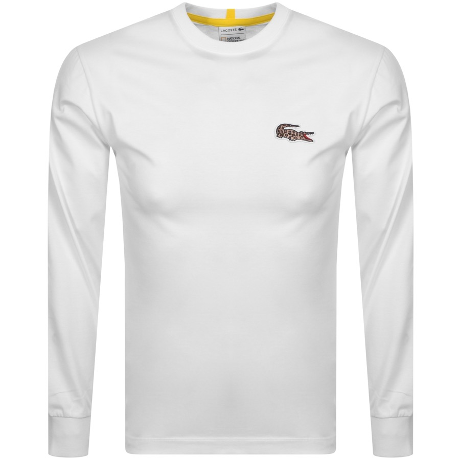 Lacoste Live X National Geographic T Shirt White