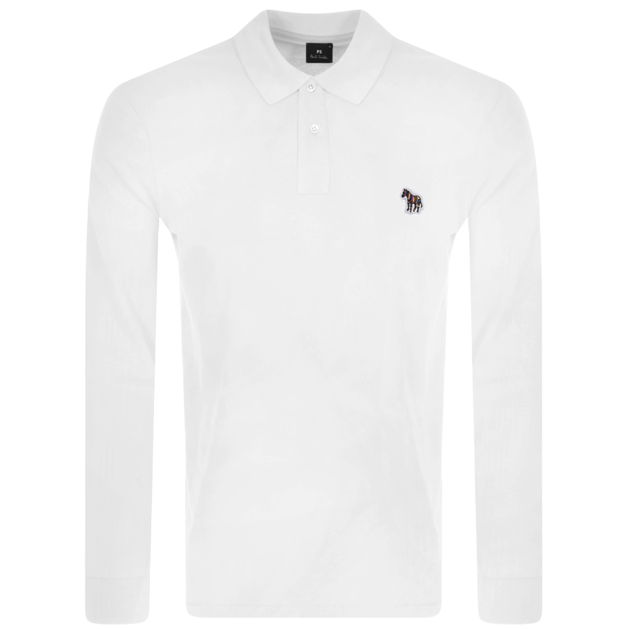 PS By Paul Smith Long Sleeved Polo T Shirt White