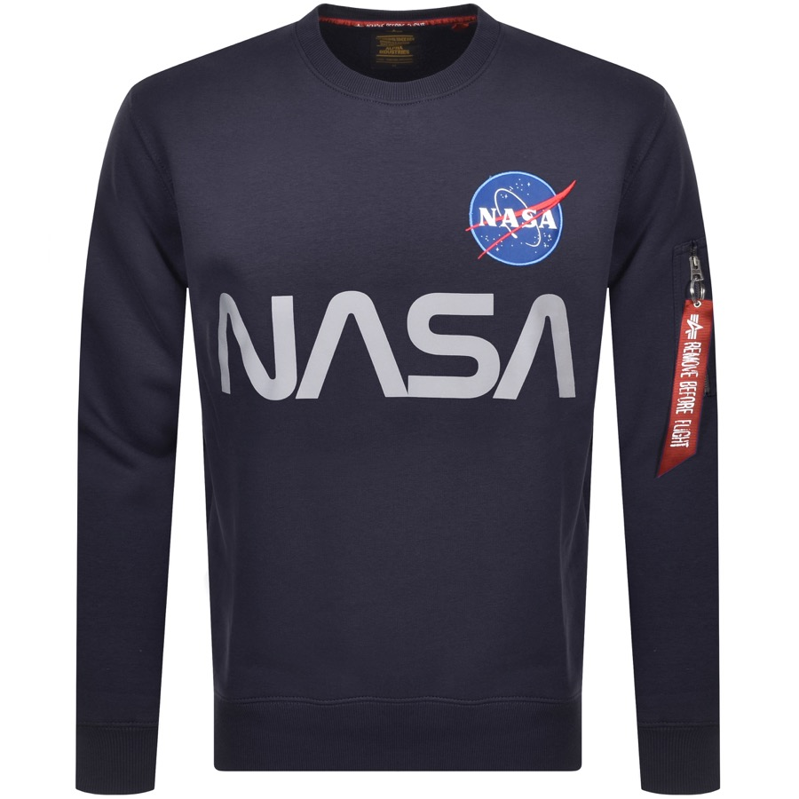 Alpha Industries Nasa Reflective Sweatshirt Navy