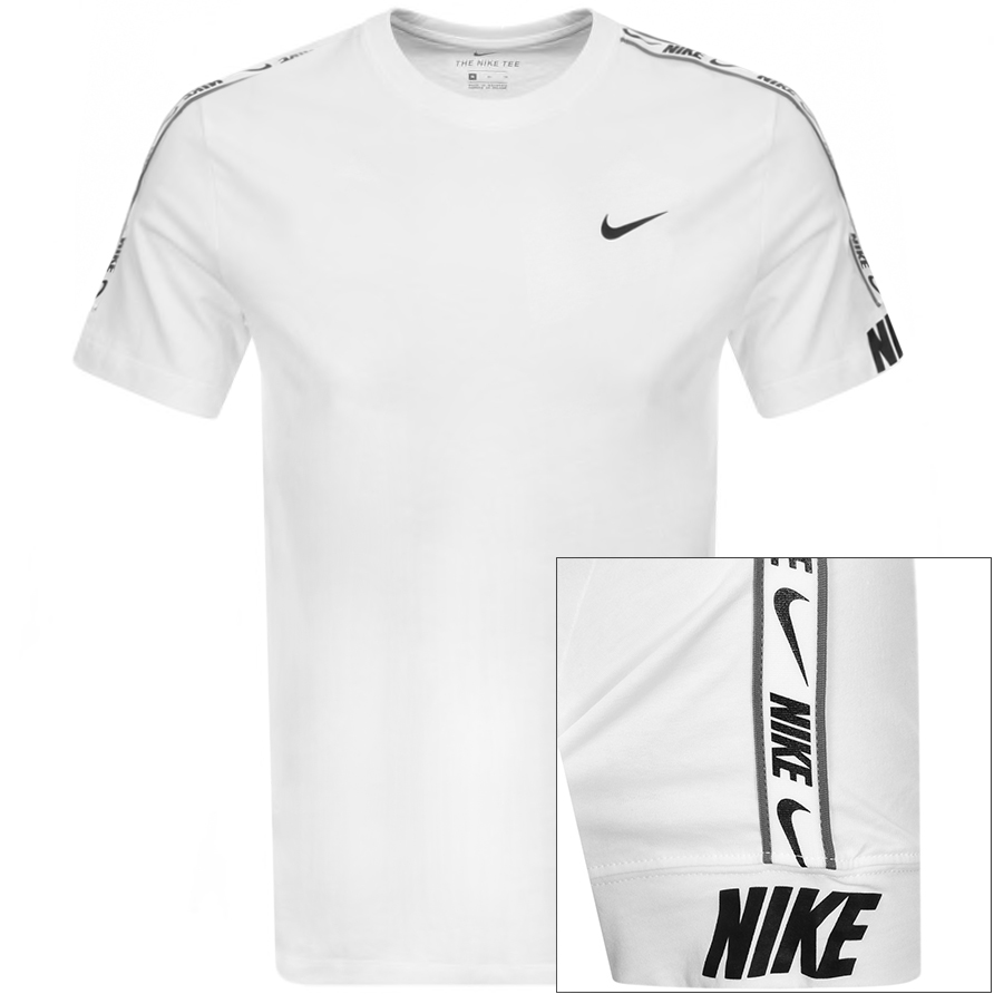 Nike Crew Neck Repeat Logo T Shirt White