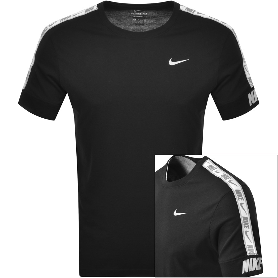 Nike Crew Neck Repeat Logo T Shirt Black