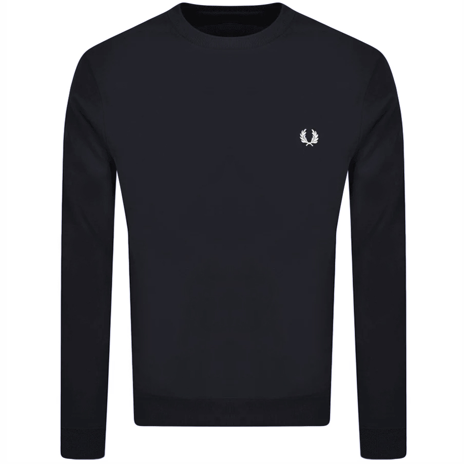 Fred Perry Crew Neck Knit Jumper Navy
