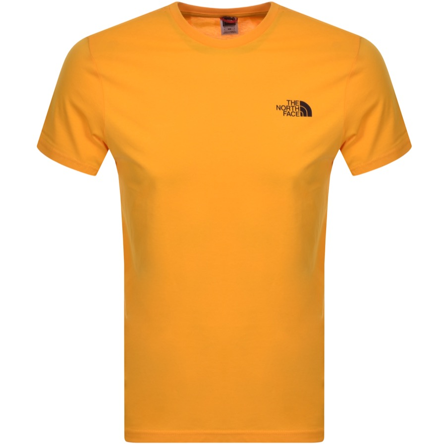 The North Face Simple Dome T Shirt Yellow