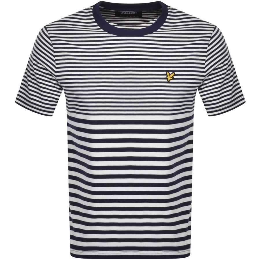 Lyle And Scott Striped T Shirt Navy