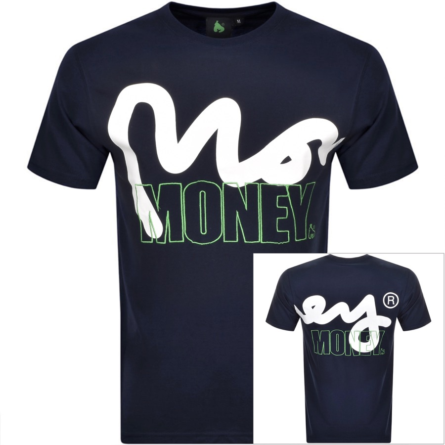 Money Crew Neck Logo T Shirt Navy