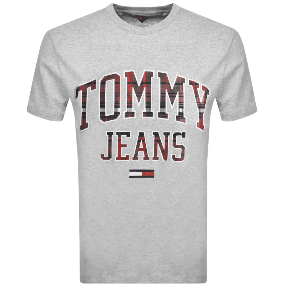Tommy Jeans Collegiate Logo T Shirt Grey