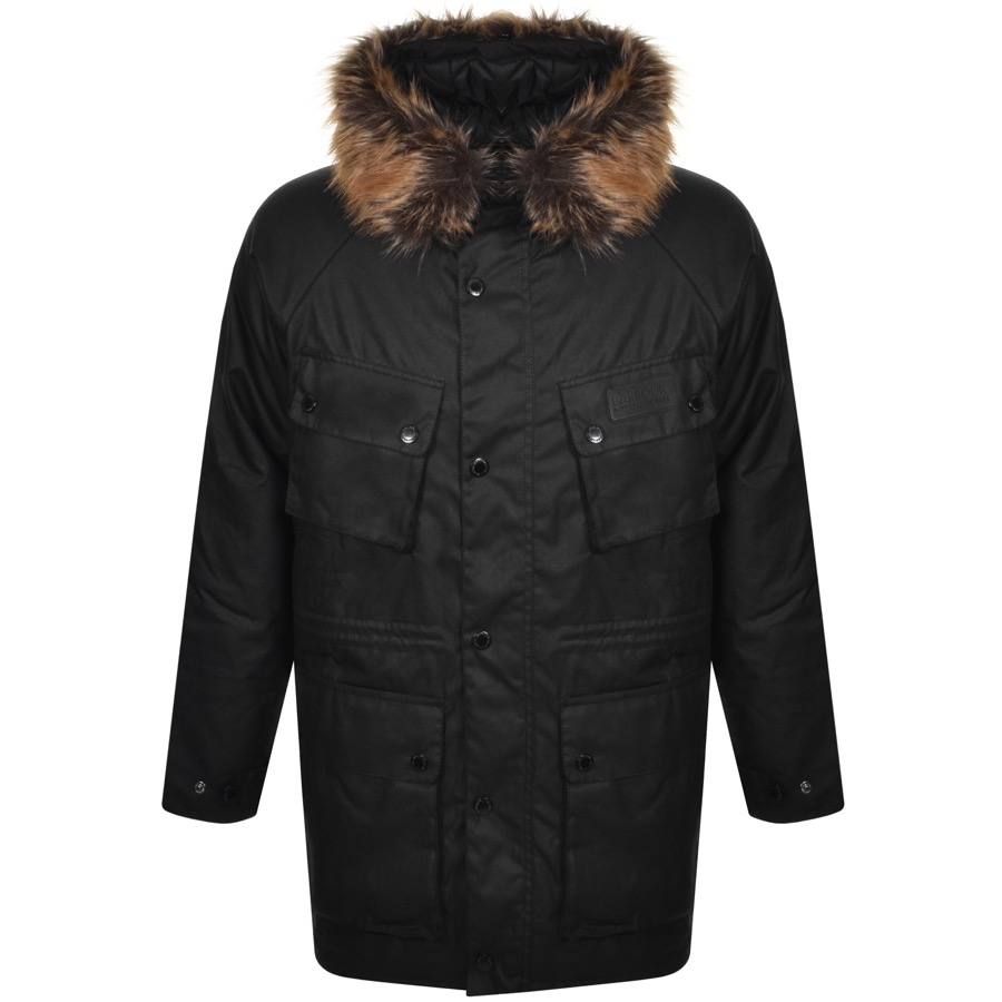 Barbour International Race Wax Parka Black