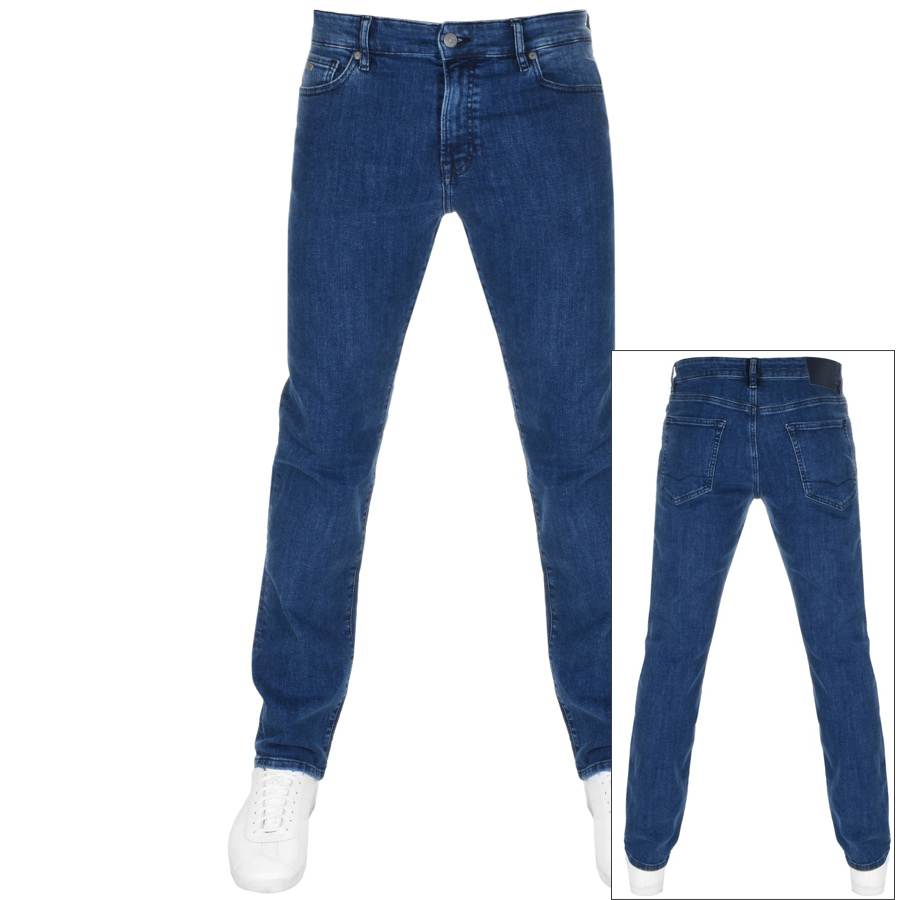BOSS Maine Regular Fit Jeans Blue