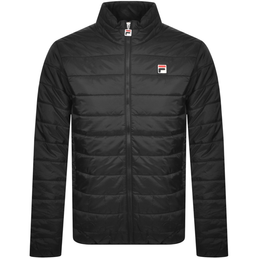 Fila Vintage Skip Colour Block Puffer Jacket Black
