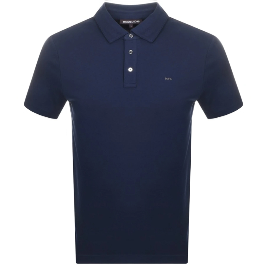 Michael Kors Sleek Polo T Shirt Navy