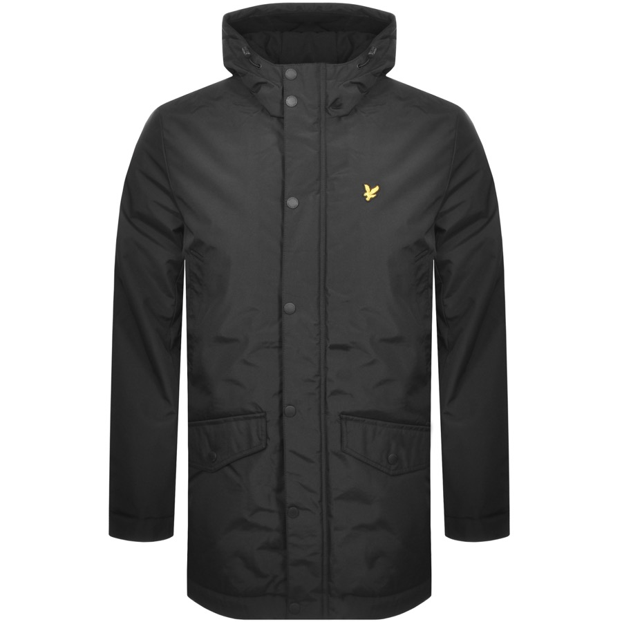 Lyle And Scott Hooded Techincal Parka Black
